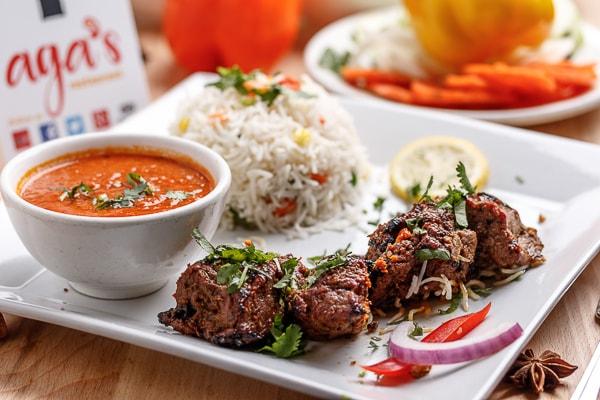 Beef Boti Rice Combo