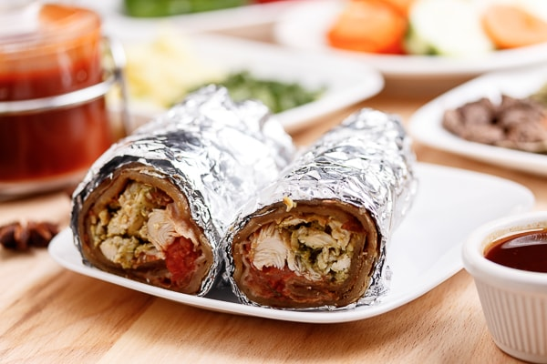Chicken Malai Boti Roll